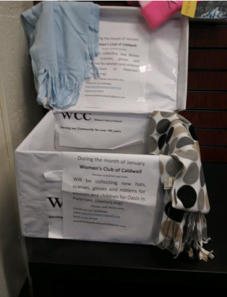 In January, we collected new gloves, hats and scarves for the residents of Oasis